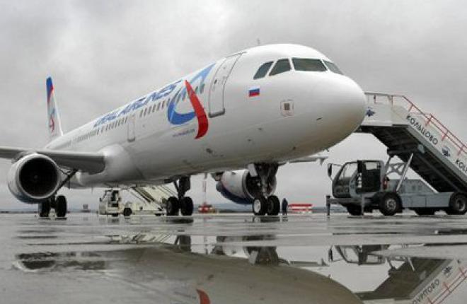 """Пассажиропоток """"Уральских авиалиний"""" за пять месяцев 20 12 г. возрос на 59%"""