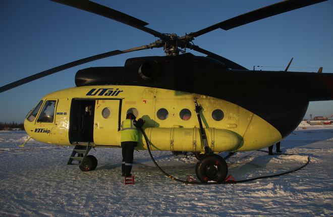 """Вертолет Ми-8 авиакомпании """"ЮТэйр — Вертолетные услуги"""""""