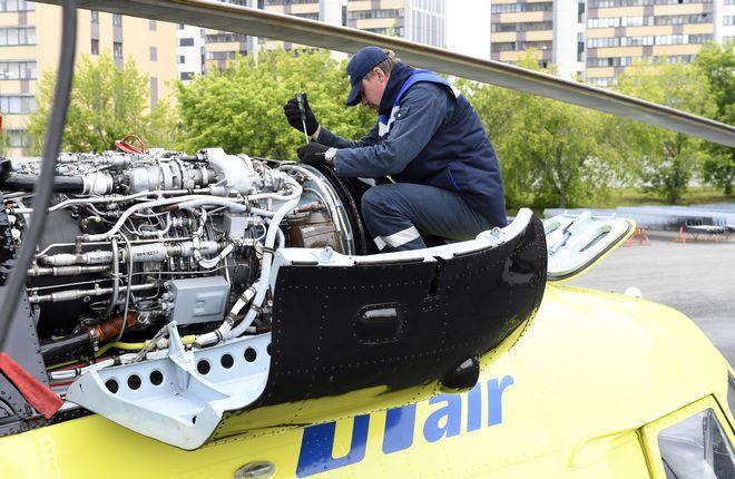 ремонт вертолета МИ-8 авиакомпании ЮТэйр