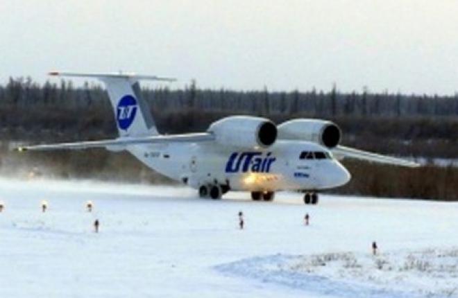 """Авиакомпания """"ЮТэйр-Карго"""" совершила рейс на самолете Ан-74 из Якутска в поселок"""