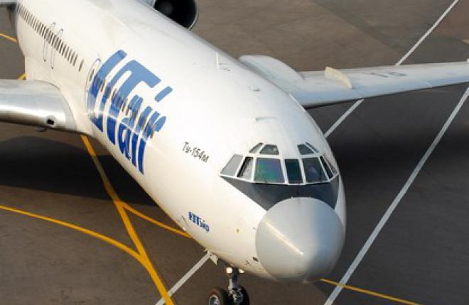 Самолет Ту-154 покидает пятерку