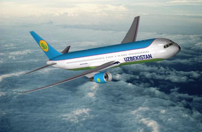 """Авиакомпания """"Узбекистон хаво йуллари"""" получила Boeing 767-300"""