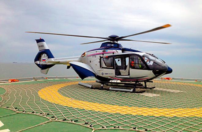 EC135 обеспечивает медицинскую эвакуацию с судна-трубоукладчика
