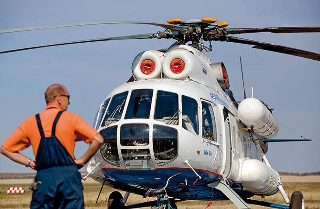 Доля Ми-8 в общем налете российского вертолетного парка выросла в 2015 г. на 3,2 п. п.