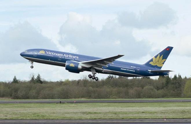 Авиакомпания Vietnam Airlines получила первый самолет Boeing 777-200ER