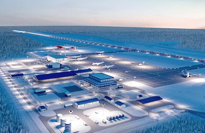 Новый аэропорт в Мирном