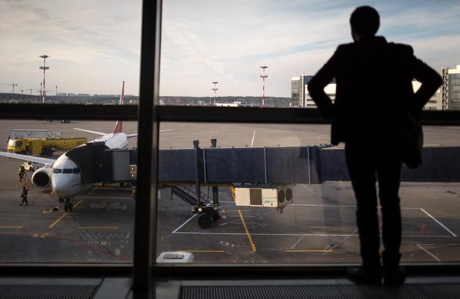 Пассажир в аэропорту Внуково