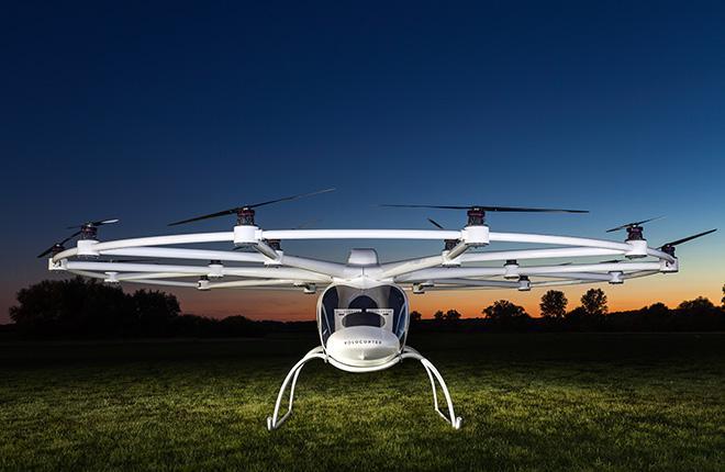 В Москве показали летательный аппарат с 18 электродвигателями