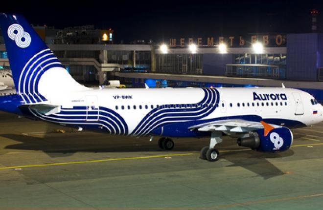 """Авиакомпания """"Аврора"""" покрасила первый самолет"""