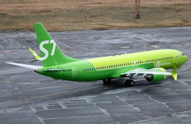 S7 Airlines полетела на втором самолете Boeing 737MAX-8