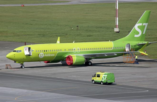 Самолет Boeing 737MAX авиакомпании S7 Airlines