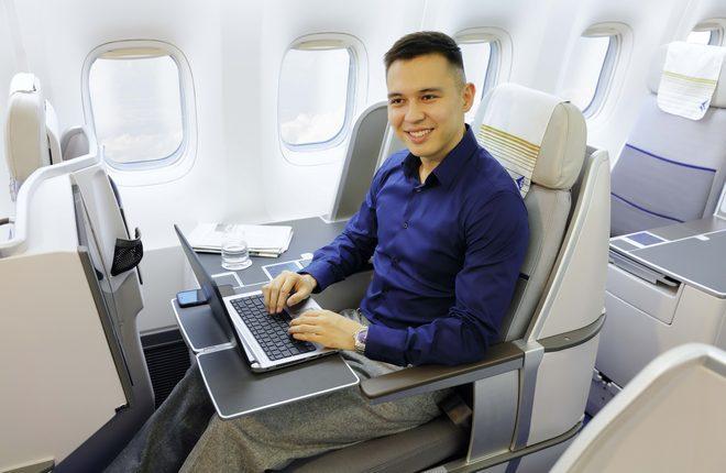 Интернет-соединение на борту Boeing 767 авиакомпании Air Astana
