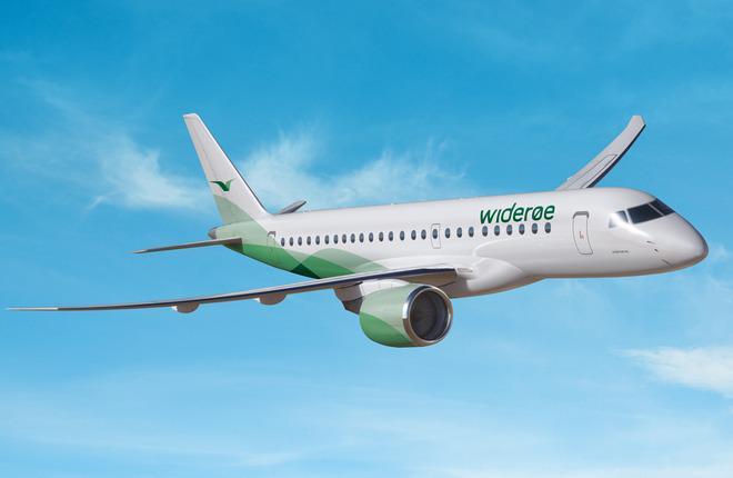 Самолет E190-E2 авиакомпании Wideroe