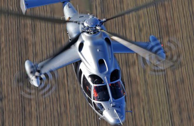 Демонстратор Eurocopter X3 достиг скорости 430 км/ч