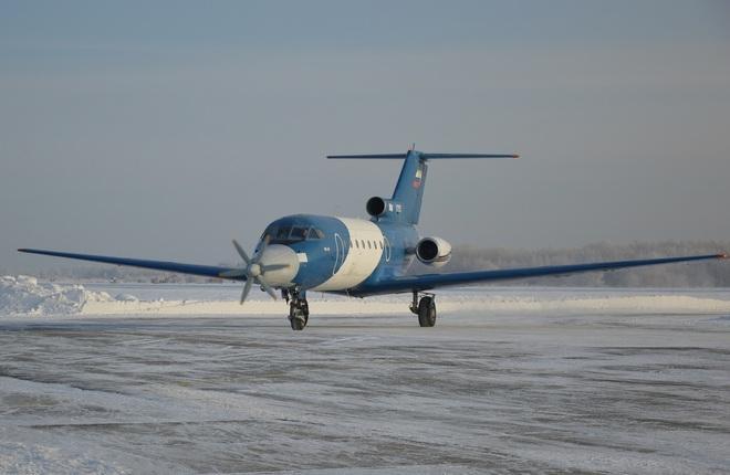 Летающая лаборатория на базе самолета Як-40 разработана СибНИА