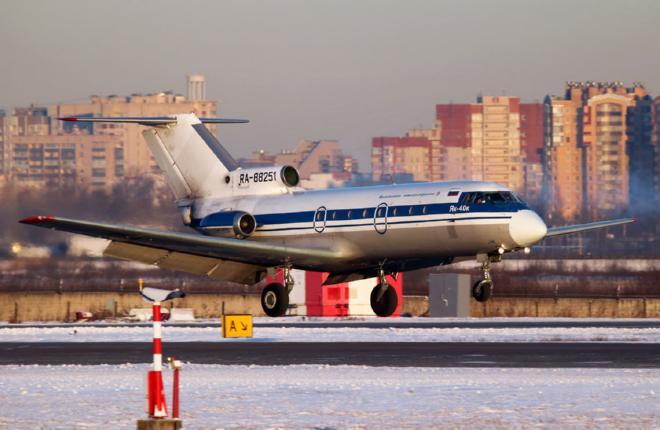 Самолет Як-40 Вологодского АП