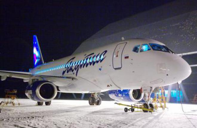 """Авиакомпания """"Якутия"""" получила первый самолет Sukhoi Superjet 100 (SSJ 100)"""