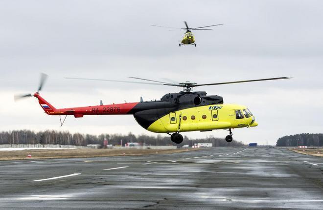 """Вертолеты Ми-8АМТ """"ЮТэйр — Вертолетные услуги"""""""