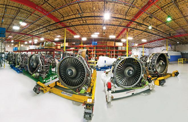 Применение использованных запчастей позволяет значительно снизить расходы на ТОиР, этим умело пользуются такие компании, как AJ Walter, AeroTurbine (на фото) и GA Telesis, особенно в сегменте авиадвигателей, на который приходится 50% компонентов б/у