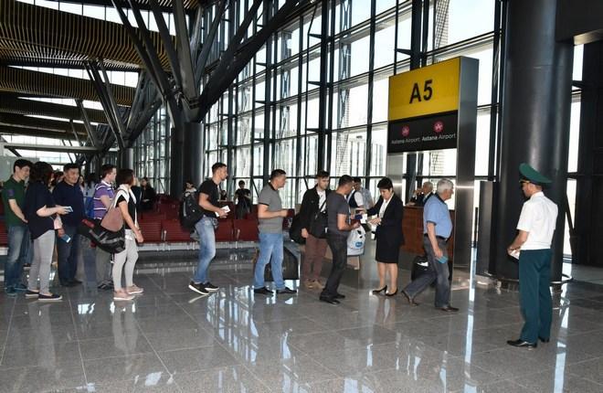 Международный терминал аэропорта Астаны принял первый рейс