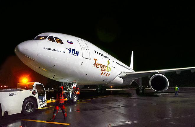Самолет Airbus A330-200 в аэропорту Жуковского