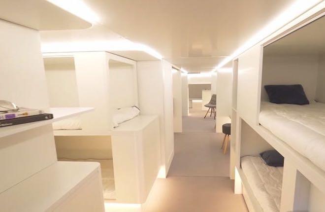 Lower-deck passenger experience module