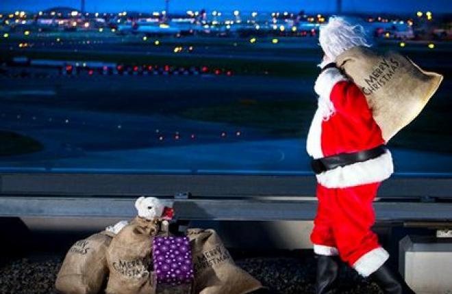 Санта в Хитроу
