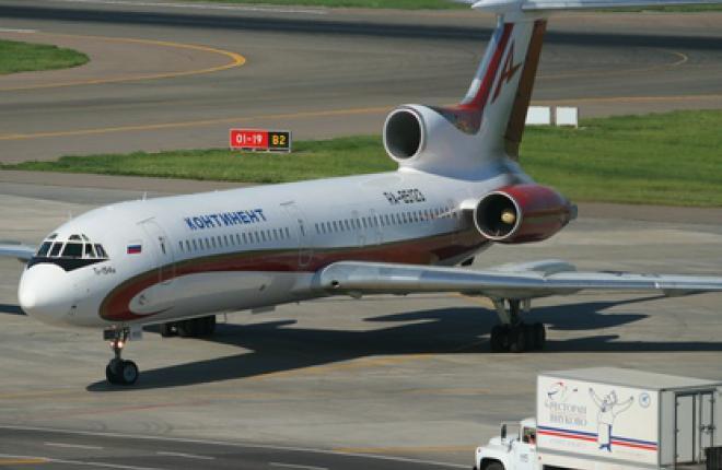 """Авикомпания """"Континент"""" эксплуатировала девять самолетов Ту-154М"""
