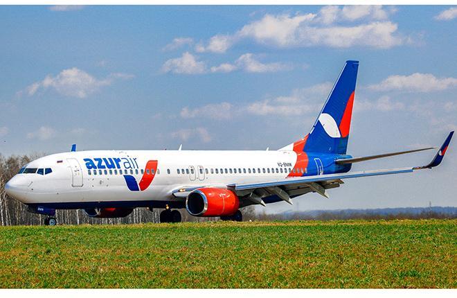Boeing 737-800 авиакомпании AZUR air
