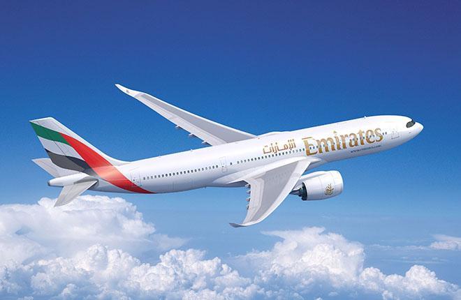 Самолет A380 авиакомпании Emirates :: Airbus