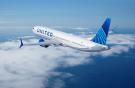 самолет Boeing 737MAX американской авиакомпании United Airlines